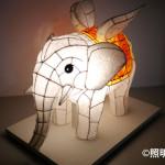 花まつり白象(和紙造形)